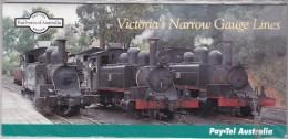 AUSTRALIA  1995 PAYPEL Victoria's Narrow Guage Railways Trains Mint - Tarjetas Telefónicas