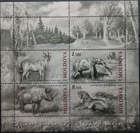 Moldova, 2010, Mi. 723-26, Prehistoric Animals, MNH - Prehistorics