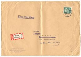 Germany 1961 Registered Cover Lörrach To Fützen, Scott 718 90pf Theodor Heuss - [7] Federal Republic