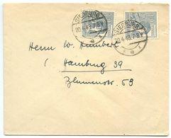 Germany 1948 Cover Siegburg To Hamburg, Scott 561 X 2 - Amerikaanse, Britse-en Russische Zone