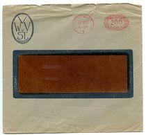 Germany 1922 Meter Cover Stuttgart - V W U V ST - Deutschland