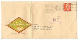 Spain 1963 Advertising Cover Madrid, Avicola Baezuela, Chickens To Wallingford CT - 1961-70 Storia Postale