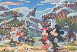 Carte Privée NEUVE Orange Japon - DISNEY - DISNEYLAND - MICKEY MINNIE TORTUE ABEILLE - JAPAN MINT JR Card - TURTLE BEE - Disney