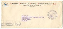 Peru 1940's Official Cover Lima - Compañia Peruana De Negocios Internacionales - Peru