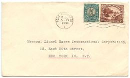 South Africa 1951 Cover Port Elizabeth To New York, ½p Springbok & 4p Native Kraal - South Africa (...-1961)