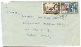 Malaya - Kelantan 1961 Cover Dabong To Kuala Lumpur - Kelantan