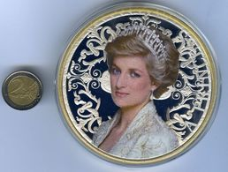 Frappe Géante XXXL Princesse DIANA Lady Di - Plaqué OR Et ARGENT - Tirage Limité - Royal / Of Nobility