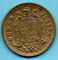 (r65)  ESPAGNE / SPAIN   1 PESETA 1966 ( *67 ) F.FRANCO - [ 5] 1949-… : Royaume