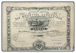 Società Anonima Des Mouettes Genevoises - N. 812 - Hist. Wertpapiere - Nonvaleurs