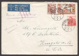 1941  Lettre Avion Pour Les USA Via Rome-Lisbonne, Marque  «Jusqu'à » - Svizzera