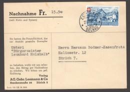 "1945  Carte Contre Remboursement ""Nachnahme""  Pro Patria 29 Seul - Schweiz"