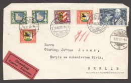 1930  Série Pro Juventute Sur Devant De Lettrte Expres Pour Berlin  Zum 53-6 - Lettres & Documents