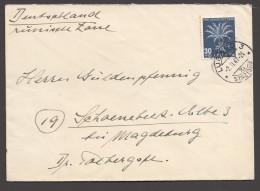 1947  Lettre Pour L'Allemagne Fleur Alpine  Chardon Bleu  Zum 120 - Pro Juventute