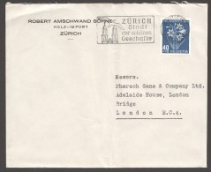1948  Lettre Pour L'Allemagne Fleur Alpine  Paradisie  Zum 128 - Pro Juventute