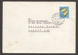 1951  Lettre Pour L'Angleterre  Papillon  Zum 137 - Pro Juventute