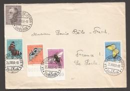 1950  Lettre Pour La France Série Pro Juventute Complète Zum 133-7 - Pro Juventute