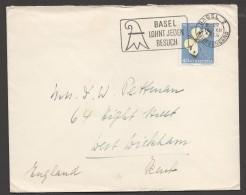 1956  Lettre Pour La France  Ppillon  Zum 167 - Pro Juventute