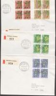 1974  Jeu De  3 Lettres Recommandées Premier Jour Série De 1974 En Blocs De 4  Zum 248-2251 - Pro Juventute