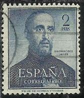 SPAIN ESPAÑA SPAGNA 1952 AEREO POSTA AEREA AIR MAIL SAN FRANCISCO JAVIER PESETAS 2 P USATO USED OBLITERE' - Usati