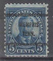 USA Precancel Vorausentwertung Preo, Bureau Tennessee, Memphis 637-61 - Vereinigte Staaten