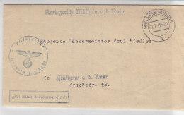 Brief Des Amtsgerichts Mülheim A.d. Ruhr 7.7.42 Mit Vignette - Dienstpost