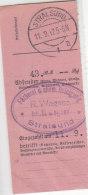 Zalkartenabschnitt Aus Stralsund 11.9.42 - Briefe U. Dokumente