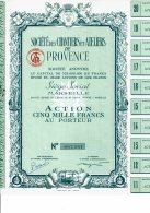 13-CHANTIERS ET ATELIERS DE PROVENCE. 1956. Action De 5000F. PORT De BOUC - Aandelen
