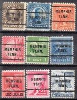 USA Precancel Vorausentwertung Preo, Locals Tennessee, Memphis 255, 9 Diff. - Vereinigte Staaten