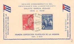 CUBA - FDC 1939 FDC CALIXTO GARCIA INIGUEZ Mi # Mi #162A-163A - FDC