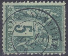 Hannonville (Meuse) : Cachet à Date Type 18 Sur Sage N°75/II (1876) RRR. - Marcophilie (Timbres Détachés)