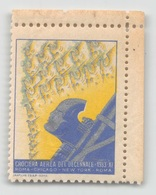 """07967 """"CROCIERA AEREA DEL DECENNALE - 1933 - XI - ROMA / CHICAGO / NEW YORK / ROMA"""" ERINNOFILO MAI APPLICATO. - Erinnofilia"""