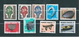 Polynésie  Timbres Taxes De 1958/87  N°1 A 9 Complet Neufs ** Sans Trace De  Charnière - Timbres-taxe