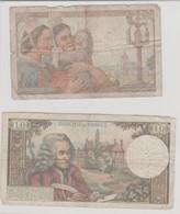 Lot De 4 Billets (10, 20, 100 Francs) - France