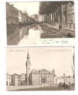 Belgique-België 5 CP-PC Lier-Lierre Hôtel De Ville-Mosdijk-Eglise-Kerk St Gommaire Animée - Lier