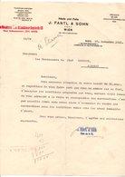 AUTRICHE COURRIER POUR ANNONAY (FRANCE) DE J. FANTL & SOHN à VIENNE 1922 - Austria