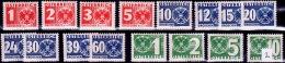 Austria Österreich 1935 MiNr. 159-174 Portomarken   MNH / ** / POSTFRISCH - Strafport