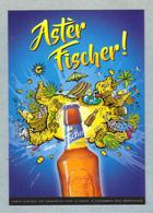 Carte Postale FISCHER Grande Biere De LA REUNION, Birra Cerveza Piwo Pilsen - Reunion