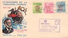 CUBA - FDC 1950 UPU Mi #255-257 - FDC