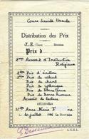 """Cours Sainte Ursule PARIS """"Distribution Des Prix"""" 1946 (124) _RLVP6 - Diplomi E Pagelle"""
