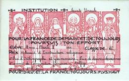 """Cours Sainte Ursule PARIS """"Classe De VI ème - Prix"""" Années 40 [182]_RLVP7 - Diplomi E Pagelle"""