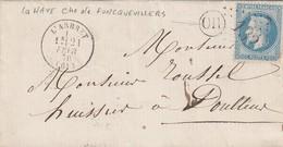 LETTRE. 21 FEVR 70. PAS-DE-CALAIS L'ARBRET. GC 132. ORIGINE RURALE OR  =  LA HAYE  /  2 - 1849-1876: Période Classique