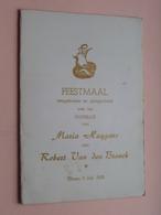 HUWELIJK Feestmaal : Huygens Maria / Robert Van Den Broeck OLMEN 5 Juli 1952 > Zie Foto's ! - Menus