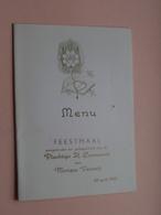 Plechtige H. COMMUNIE : Feestmaal : Monique VERWERFT Op 26 April 1959 > Zie Foto's ! - Menus