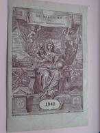 De KALENDER Der Belgische BRIEVENBESTELLERS - 1942 ( Zie Foto's / Gevouwen ) ! - Calendars