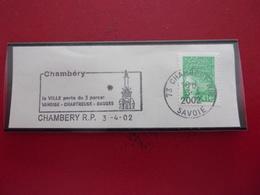 Chambéry Savoie éléphant  3-4-02 - Marcophilie (Lettres)
