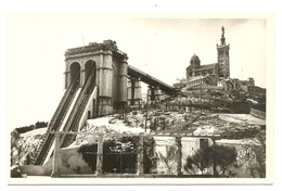 POSTAL MARSEILLE BASILIQUE N.D. DE LA GARDE AÑOS 50 - Iglesias Y Catedrales