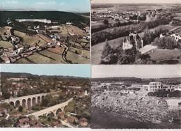 12 Vues Aeriennes---france---cpsm Noires Et Colorisées - Cartes Postales