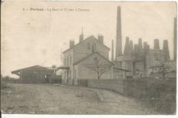 PERNES En ARTOIS....la Gare...et L'usine A Ciments - France