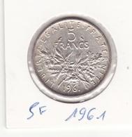 5 Frs 1961 Argent - France