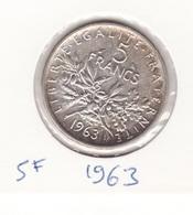 5 Frs 1963 Argent - France